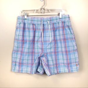 Polo by Ralph Lauren plaid swim trunks large